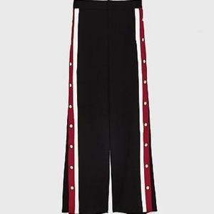 790ac2ad Zara Pants | Pyjamastyle Trousers With Side Stripes Bla | Poshmark